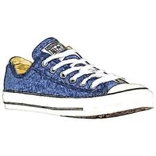 Converse All Star Ox - Men's Basketball Shoes (Navy/White Width:Medium)