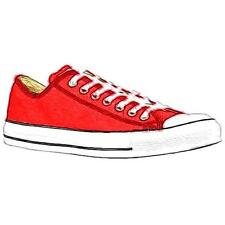 Converse All Star Ox - Men's Basketball Shoes (Bright Red/White Width:Medium)