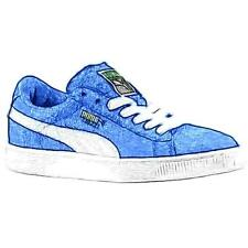 PUMA Suede Classic - Boys' Primary School Basketball Shoes (Snorkel Blue/White)