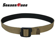 4 Size Tactical Double-Side Nylon Army Waist Belt Black & Coyote Brown M-XXL