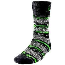 Jordan Son Of Mars Socks - Adult Basketball Accessories (BK/GN Pulse/GN Pulse)