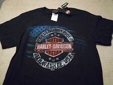 NWT Harley Davidson Milwaukee Harley Motorcycles T Shirt Size S Black