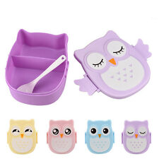 New Students Owl Lunch Box Portable Outdoor Picnic Food Container Storage Boxes