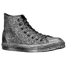Converse All Star Leather Hi - Men's Basketball Shoes (BK Monochrome Width:Medi