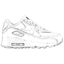 Nike Air Max 90 - Boys' Preschool Running Shoes (White/Cool Grey/White)