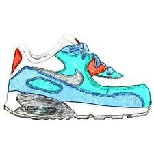 Nike Air Max 90 - Girls' Toddler Running Shoes (WT/Lakeside/Artisan Teal/Metall