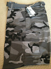NWT Men's Regal Wear Gray Camouflage Camo Cargo Pocket Pants ALL SIZES/LENGTHS