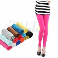 Hot Fashion Women's Candy Color Stretchy Cotton Sexy Leggings Ankle Length Pants