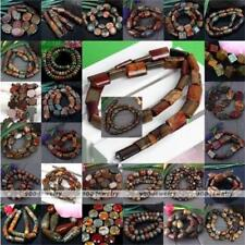 1 Strand Picasso Jasper Gemstone Loose Beads Round Oval Coin Jewelry Making DIY