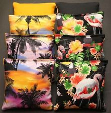 TROPICAL Island Paradise Cornhole Bean Bags ACA Regulation Margaritaville Sunset