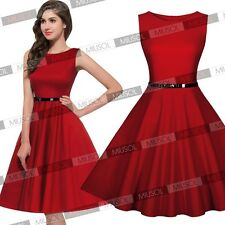 Ladies Pinup Cocktail Evening Party Short Prom Dresses Skater Club Dancer Skirts