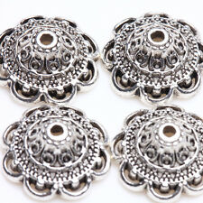 New Practical 15/30 Pcs Tibetan Silver Bead Caps DIY Gift 14x5mm Wholesale