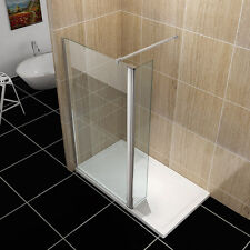 Walk In Shower Enclosure Wet Room Cubicle Easyclean Glass Hinged Screen Panel