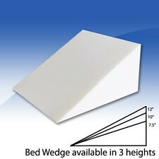 Foam Bed Wedge Pillow Cushion with Cover - 3 Size Opitions Wedge Pillow
