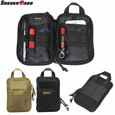 1X1000D Tactical Molle Utility Mobile Phone/Tool Waist Hand Bag Pouch Tan/Black