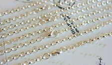 "Silver Necklace chains 25"" ready to use clasps fixe Jewelry making craft chains"