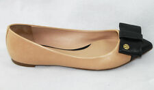 AUTH Tory Burch Aimee Flat Leather Shoes