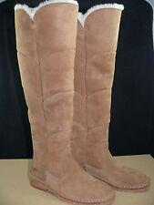 UGG Australia SAMANTHA Chestnut OVER THE KNEE SUEDE SHEEPSKIN BOOTS 1008706
