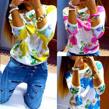 NEW Fashion coat Women''s Loose Casual Floral long Sleeve T-Shirt Blouse Hoodie