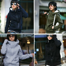 Women Ladies 2015 Winter Warm Outerwear Hooded Sweatshirt Hoodies Coat Jacket