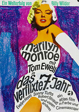 """""""7 YEAR ITCH""""..Marilyn Monroe..Classic Movie German Pop Art Poster A1A2A3A4Sizes"""