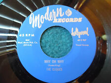 THE CLIQUES MODERN 45 WHY OH WHY/DON'T STOP LOVING ME VG++ REPRO BLUE LABEL 1956