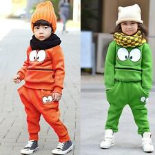 Baby Boys Girls Kid Autumn SportsWear Tracksuit Outfit Unisex Smiling Face Suit