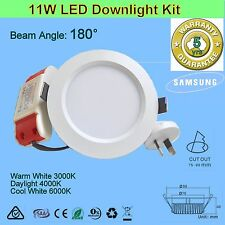 10x11W 180° Dimmable or non-dim LED Downlight kit - Warm, Daylight or Cool White
