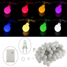 10M 100 Globes Ball Bulbs LED Fairy String Light Christmas Xmas Party Decor 110V