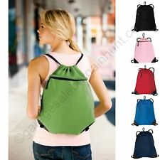 Mesh Drawstring Backpack String Cinch Sac Tote Bag Sport Pack Christmas Stocking