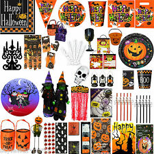 Halloween Party Tableware Pumpkin Pals and Spooky Cups Plates Napkins