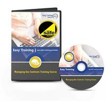 Plumbing Course - Managing Gas Contracts - Gas Safe Training Learning CD Course