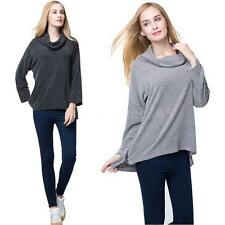 Womens Long Sleeve Slouchy T-shirt Irregular Hem Top Casual Shirt Tops Blouse