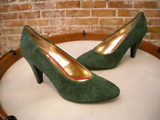 Seychelles Hunter Green Suede Magic Words Vintage Inspired Pump NEW