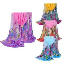 Women Fashion Long Soft Scarf Chiffon Scarf Wrap Shawl Stole Scarves Travel P0TD