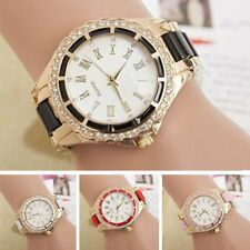 Women Fashion Casual Stainless Steel Crystal Dial Band Analog Quartz Wrist Watch