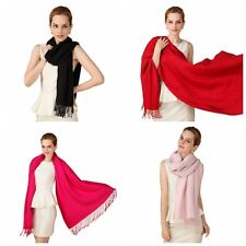 New Women's Senior Super soft Comfortable Solid color Pashmina Scarf Shawl Wrap