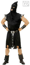 Adult Mens Medieval Tudor Executioner Black Halloween Costume Outfit New L XL