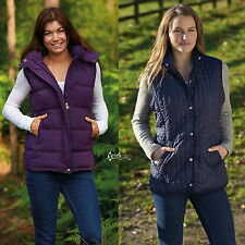 Ladies Champion Country Estate Zip Front Closure Padded Gilet Bodywarmer Quilted
