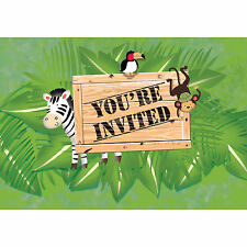 Jungle Boys & Girls First & Second 1st 2nd Birthday Party Invitations Invites!