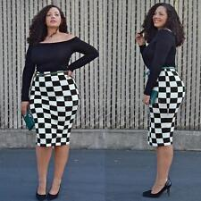 Womens Off-Shoulder Plus Size Long Sleeve Bodycon Evening Party Midi Dress SW73