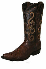 2B41PI Genuine Python Traditional Western Boots made by Cuadra boots