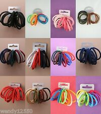 CARD OF THICK QUALITY ENDLESS SNAG FREE HAIR ELASTICS, BOBBLES, PONIOS, BANDS