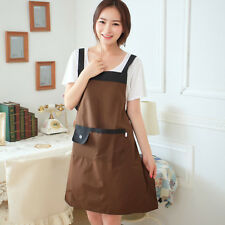 Women Fashion Apron Kitchen Restaurant Bib Cooking Aprons With Pockets HOT SELL