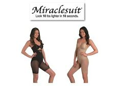 Miraclesuit Sexy Sheer Extra Firm Hi Waist Thigh Slimmer 2789 In Black Or Nude