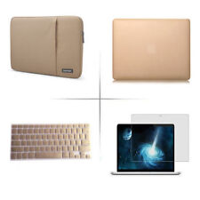 Gold sleeve carry bag pouch hard case keyboard cover for Apple macbook Pro Air