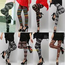 Womens Knitted Warm Winter Slim Leggings Soft Cotton Blend Pants Avarage Size #L
