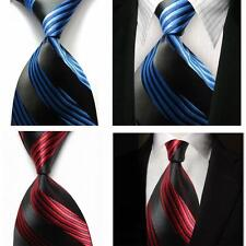 Men's Silk Jacquard Woven Wedding Formal Classic Striped Necktie Suit Tie DD03