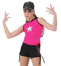 Let's Shake Hooded Top & Shorts Hip Hop Jazz Tap First Performance Dance Costume