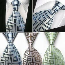 Mens Geometry silk Formal tie necktie wedding casual neckwear Neck business DD28